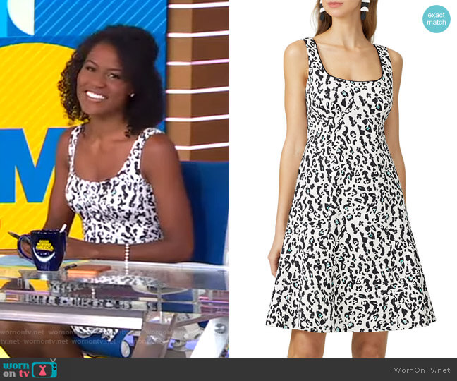 Leopard Dress by Nanette Lepore worn by Janai Norman  on Good Morning America
