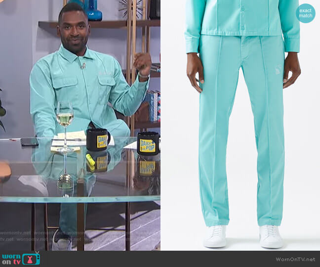 Work Pants by Not of this Earth worn by Justin Sylvester  on E! News