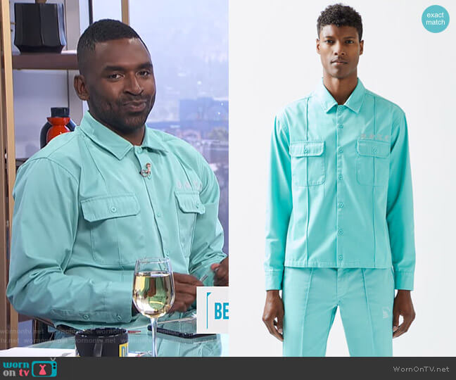 Button Up Work Shirt by Not of this Earth worn by Justin Sylvester  on E! News