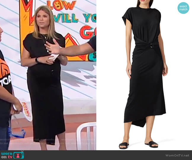 Wrap Waist Dress by Paco Rabanne worn by Jenna Bush Hager  on Today