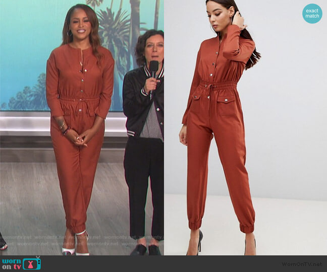 Utility Jumpsuit by Pretty Little Thing worn by Carrie Inaba  on The Talk