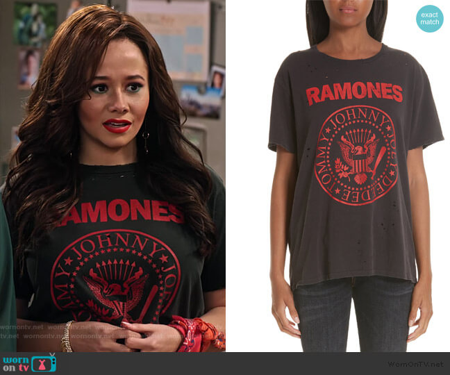 Ramones Boy Tee by R13 worn by Jade (Talia Jackson) on Family Reunion