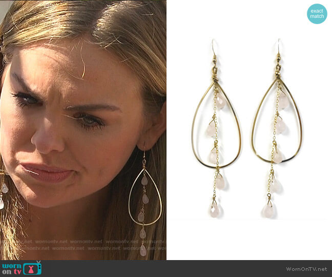 Palmer Earrings by Robyn Rhodes worn by Hannah Brown  on The Bachelorette