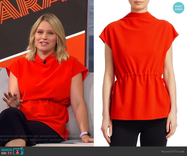Augusta Top Rachel Comey worn by Sara Haines  on Good Morning America