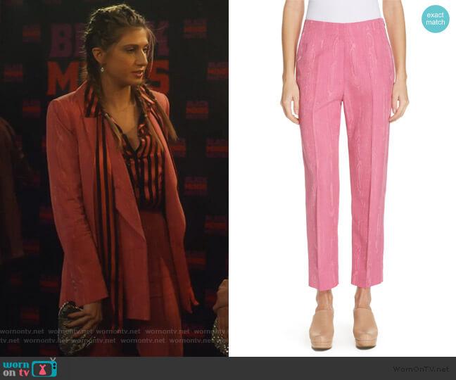 Prime Wool Blend Moiré Pants by Rachel Comey worn by Nomi Segal (Emily Arlook) on Grown-ish