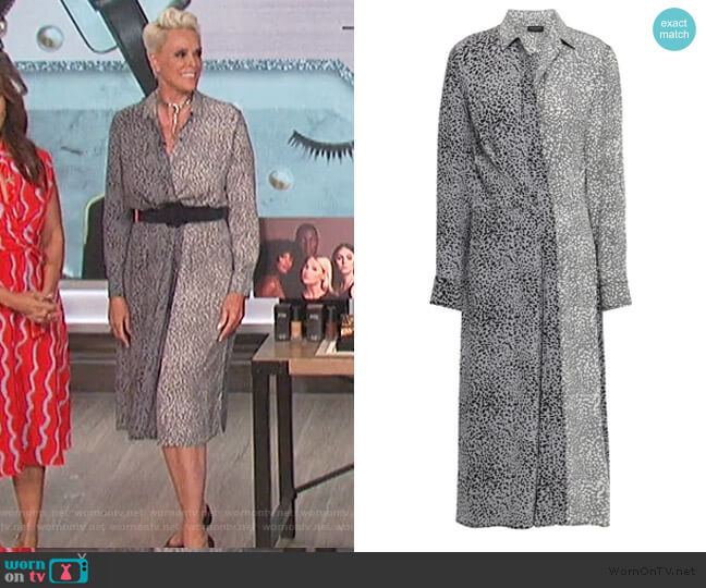 Karen leopard-print silk midi shirt dress by Rag and Bone