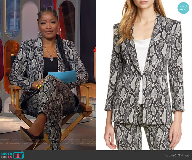 Richie Jacket by Alice + Olivia worn by Keke Palmer  on Good Morning America