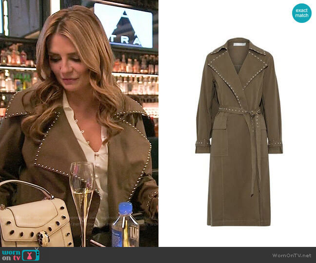 Robert Rodriguez Studded cotton-blend twill trench coat worn by Mischa Barton  on The Hills New Beginnings