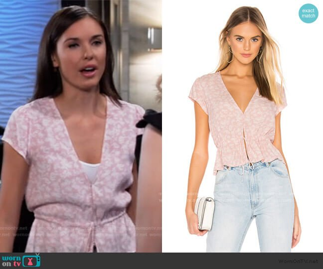 Rollas Lula Blouse worn by Willow Tait (Katelyn MacMullen) on General Hospital