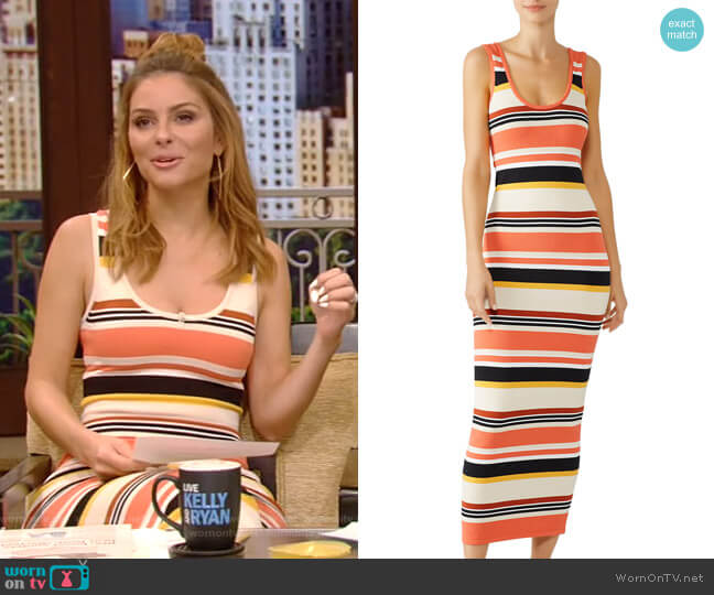Latrice Dress by Ronny Kobo worn by Maria Menounos on Live with Kelly and Ryan