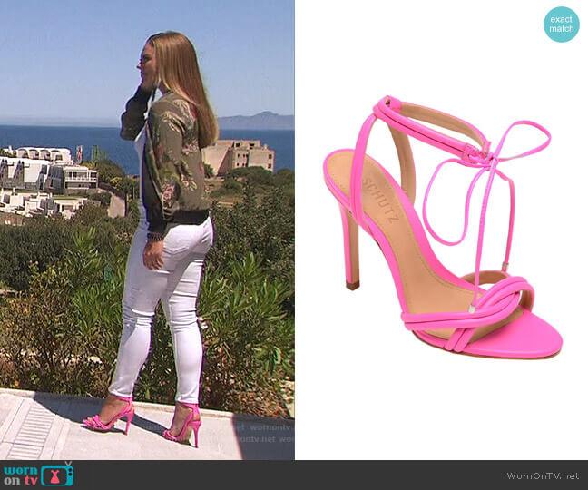 Yvi Strappy Sandal by Schutz worn by Hannah Brown  on The Bachelorette