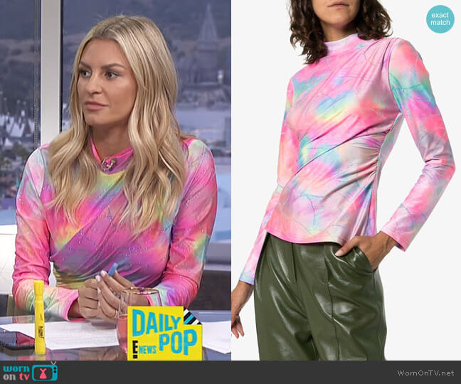 Peyton Tie Dye Top by Sies Marjan worn by Morgan Stewart  on E! News