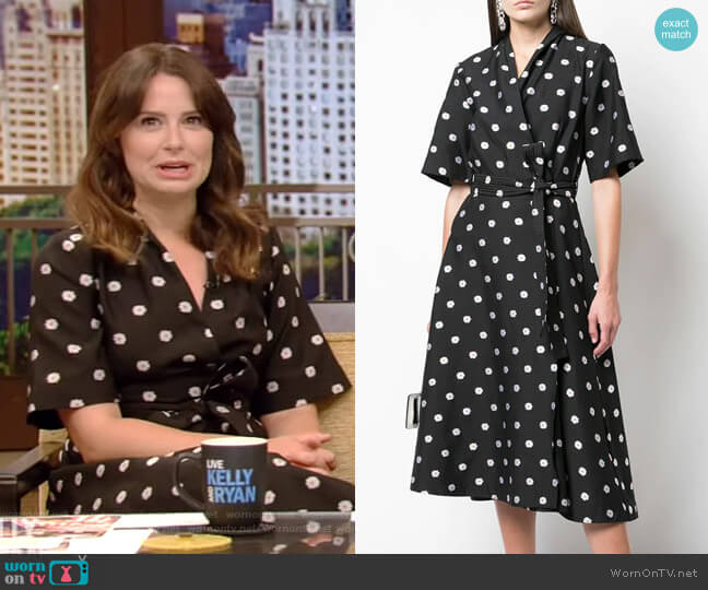 Kylie Wrap Dress by Stine Goya worn by Katie Lowes on Live with Kelly and Ryan