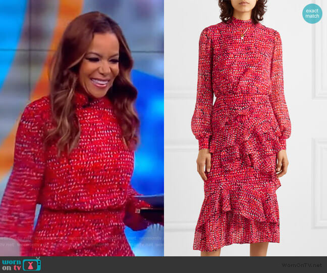 Isa Dress by Saloni worn by Sunny Hostin  on The View