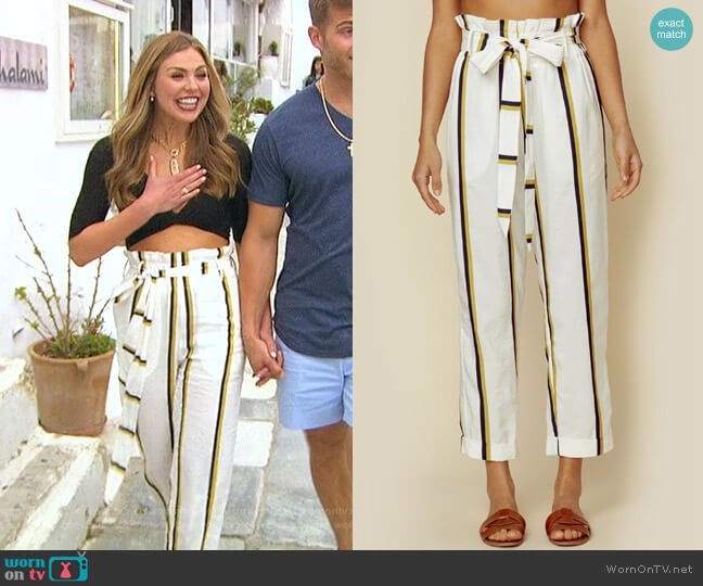 Lida Pant by Sancia worn by Hannah Brown  on The Bachelorette