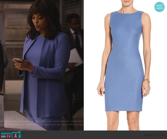 Sarga Knit Bateau Neck Dress by St. John worn by Jasmine Gooden (Sharon Leal) on Instinct