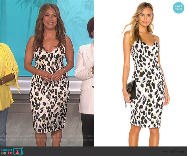 Fierra Midi Dress by Superdown worn by Carrie Inaba  on The Talk