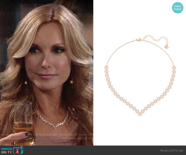 Swarovski Angelic Square Necklace in Rose Gold worn by Lauren Fenmore (Tracey Bregman) on The Young & the Restless
