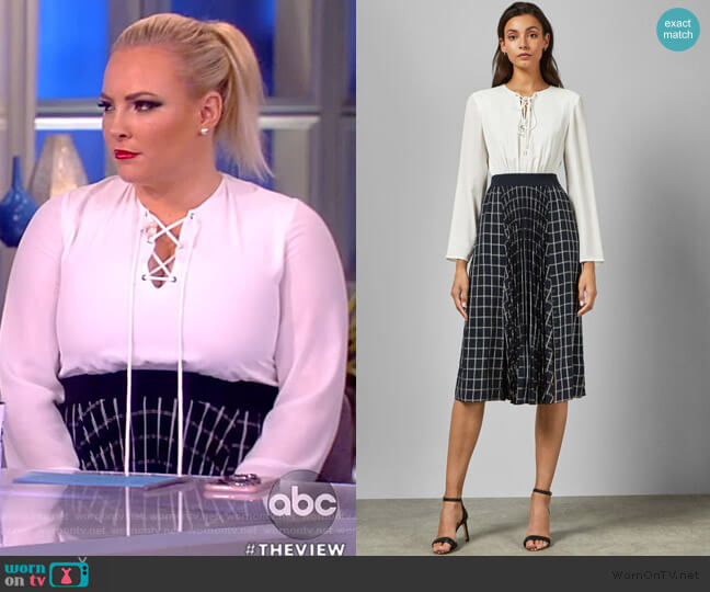Fancesa Dress by Ted Baker worn by Meghan McCain  on The View