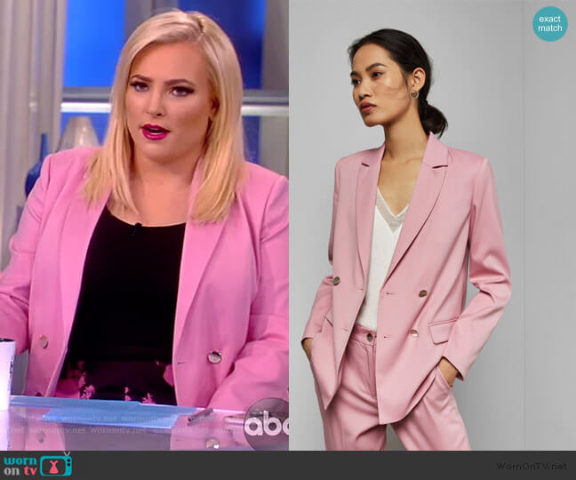 Tailored jacket by Ted Baker worn by Meghan McCain  on The View