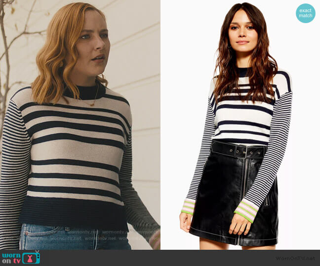 Ottoman Cropped Jumper With Cashmere by Topshop worn by Violet Simmons (Haley Ramm) on Light as a Feather