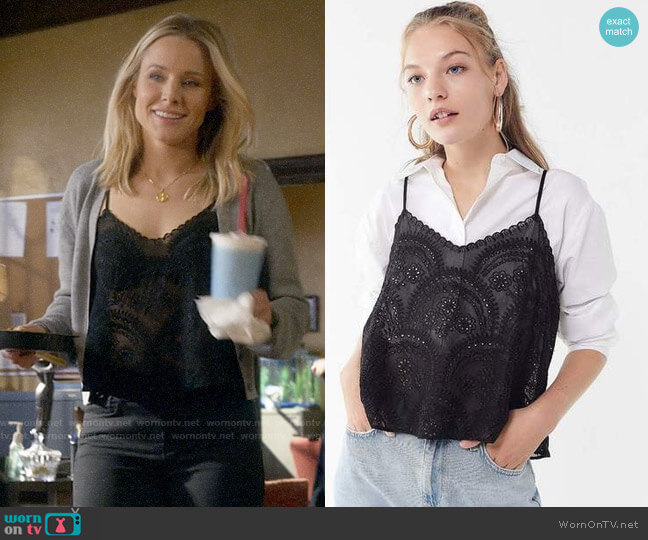 UO Lola Chiffon Embroidered Cami worn by Veronica Mars (Kristen Bell) on Veronica Mars