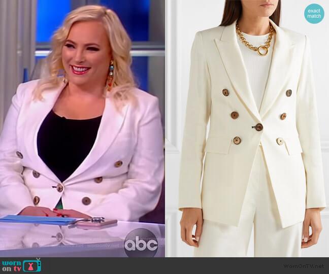 Gaya Dickey linen-blend blazer by Veronica Beard worn by Meghan McCain  on The View