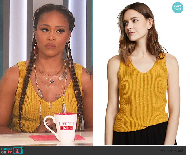 Ribbed Tank by Vince worn by Eve  on The Talk