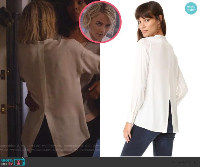 Slit Back Blouse by Vince worn by Lizzie Needham (Bojana Novakovic) on Instinct