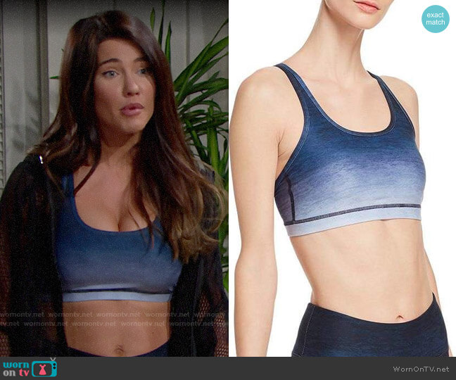 Wear It To Heart Ombré Strappy Sports Bra worn by Steffy Forrester (Jacqueline MacInnes Wood) on The Bold & the Beautiful
