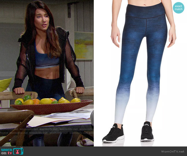 Wear It To Heart High-Rise Ombré Leggings worn by Steffy Forrester (Jacqueline MacInnes Wood) on The Bold & the Beautiful