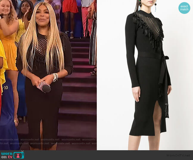 Macrame Knit Dress by Yigal Azrouel worn by Wendy Williams  on The Wendy Williams Show