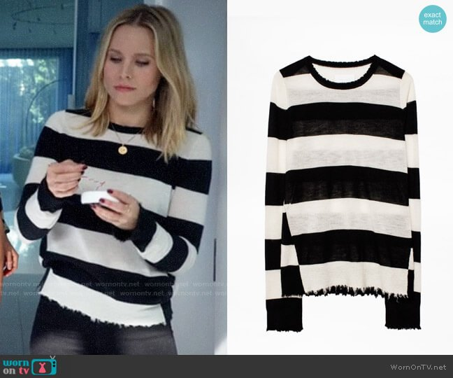 Zadig & Voltaire Source Striped Sweater worn by Veronica Mars (Kristen Bell) on Veronica Mars