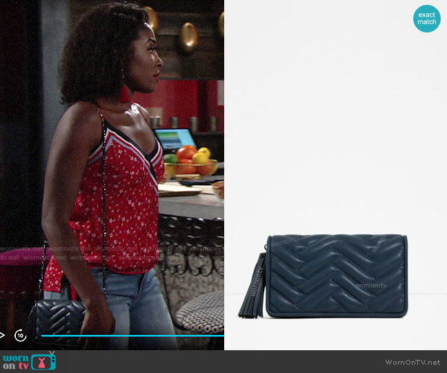 Zara Mini Crossbody Bag worn by Ana Hamilton (Loren Lott) on The Young & the Restless