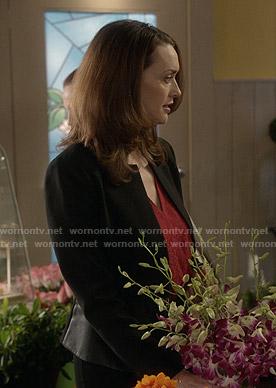 Abigail's black peplum jacket on Good Witch