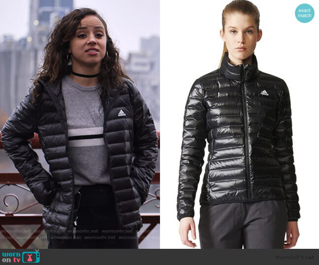 Varilite Down Jacket by Adidas worn by Moe Truax (Kiana Madeira) on Trinkets