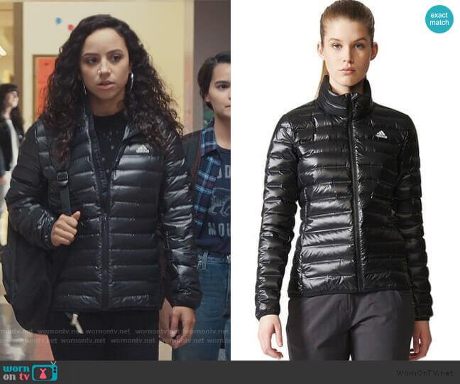 Varilite Down Jacket by Adidas worn by Moe Truax (Kiana Madeira) on Trinkets