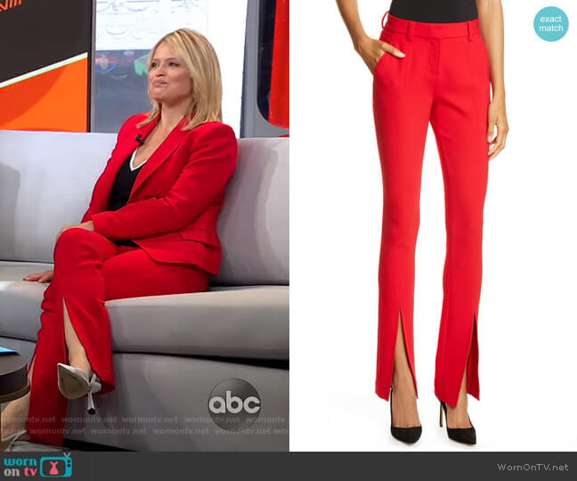 Conway Front Slit Pants by A.L.C. worn by Sara Haines  on Good Morning America