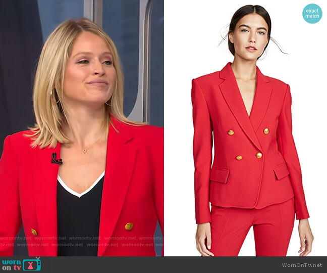 Hendrick Blazer by A.L.C. worn by Sara Haines  on Good Morning America