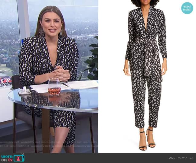 Kieran Jumpsuit by A.L.C. worn by Carissa Loethen Culiner  on E! News
