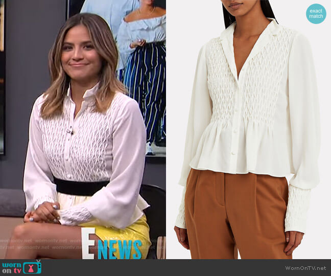 Capizzi Blouse by Alexis worn by Erin Lim  on E! News