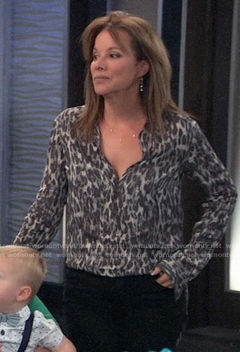 Alexis's leopard print shirt on General Hospital