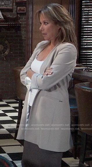Alexis's beige blazer on General Hospital