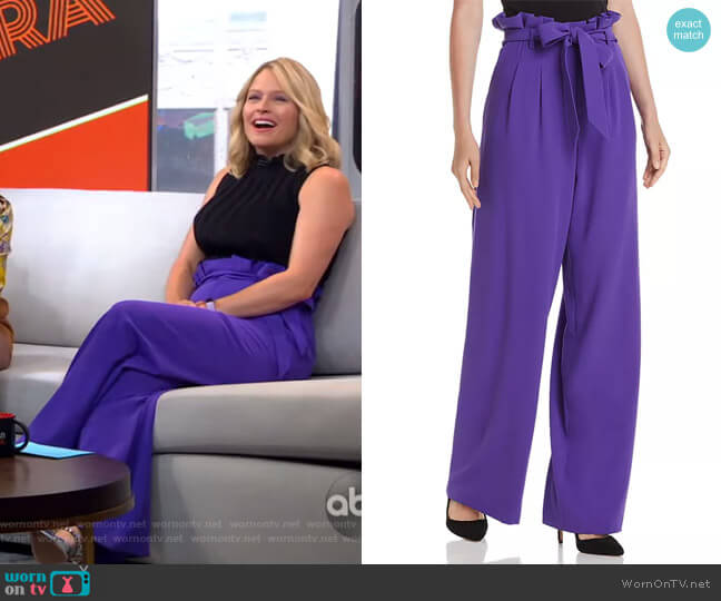 Farrel Pants by Alice + Olivia worn by Sara Haines  on Good Morning America