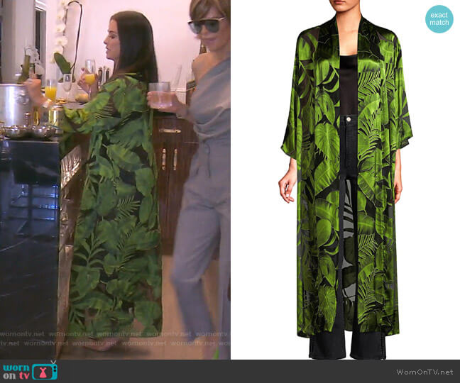 Kalena Caftan by Alice + Olivia worn by Kyle Richards  on The Real Housewives of Beverly Hills