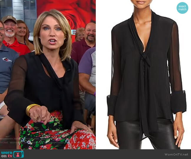 Gwenda Blouse by Alice + Olivia worn by Amy Robach  on Good Morning America