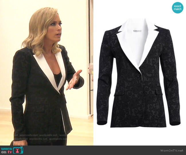 Macey Fitted Blazer by Alice + Olivia worn by Teddi Mellencamp Arroyave  on The Real Housewives of Beverly Hills