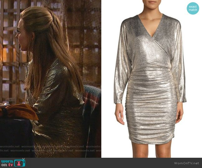 Pace Batwing-Sleeve Drape Dress by Alice + Olivia worn by Hannah Brown  on The Bachelorette