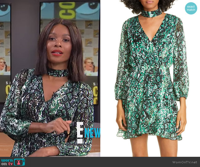 Rita Dress by Alice + Olivia worn by Zuri Hall  on E! News