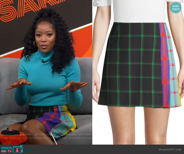 Semira Skirt by Alice + Olivia worn by Keke Palmer  on Good Morning America